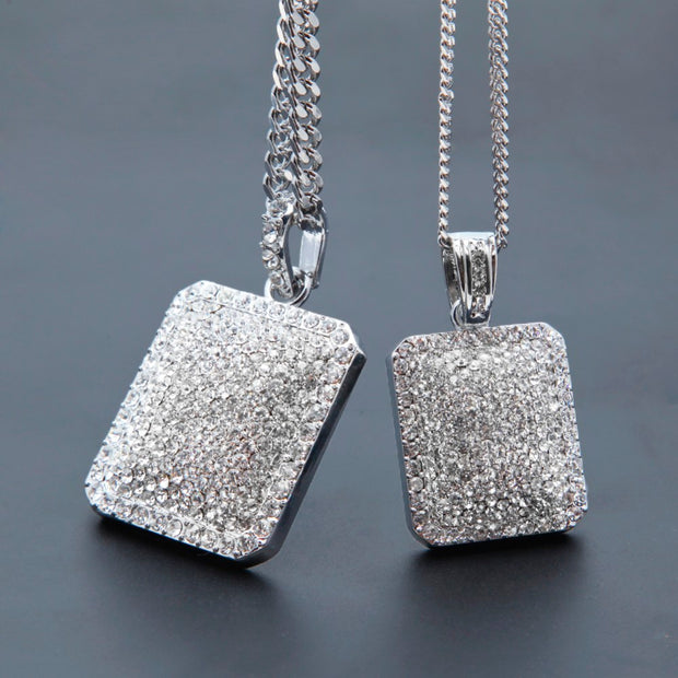 White Gold Ice Cube Pendant