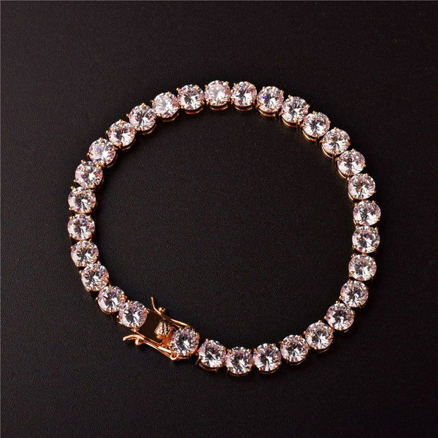 3mm White Gold Tennis Bracelet