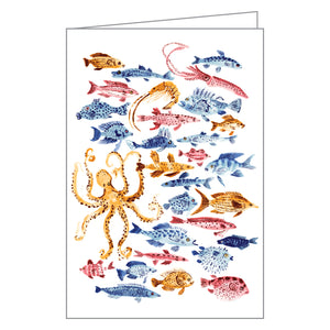Ocean Dwellers Notecard Box
