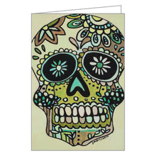 Sugar Skulls FlipTop Notecard Box