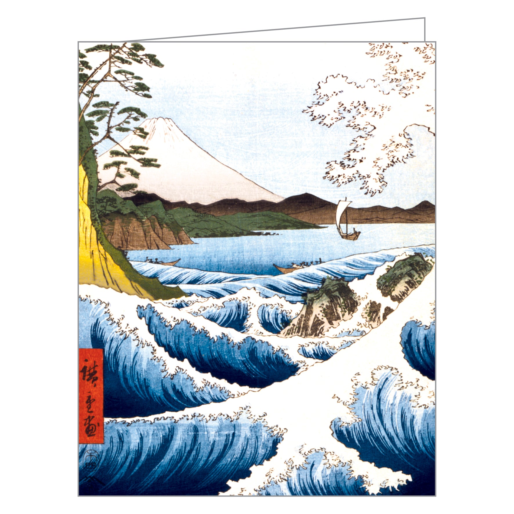 hiroshige greennotes full color eco friendly all occasion boxed notecard set