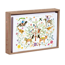 Let's Go to Wonderland Luxe Foil Notecard Box