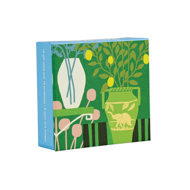 Modern Botanicals Mini FlipTop Notecard Box