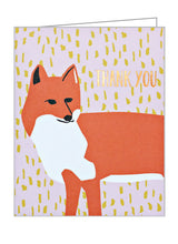 Foxy Thank You Notecard Set