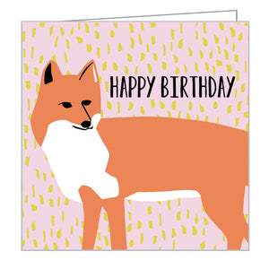 Foxy Birthday Mini FlipTop Notecard Box