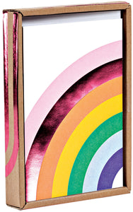 Over the Rainbow Luxe Foil Notecard Box