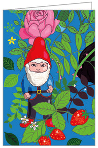 Garden Gnomes FlipTop Notecard Box