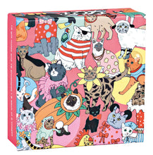 Fancy Dress Cats Mini FlipTop Notecard Box