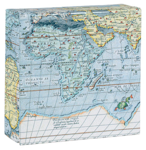 Vintage Maps Mini FlipTop Notecard Box