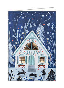 Cozy Winter Cabin, Big Notecard Set