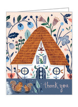 Cozy Cabin Thank You GreenThanks