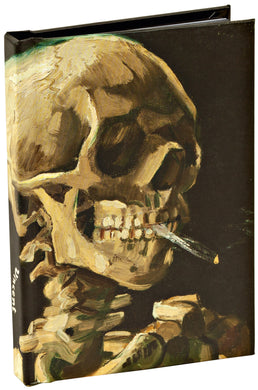 Head of a Skeleton with a Burning Cigarette by Vincent van Gogh, Skull Mini Notebook