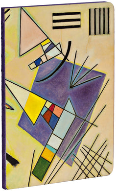 Black and Violet by Vasily Kandinsky A5 Notebook with violet page edges and dotted grid pages
