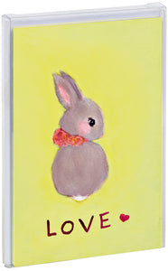 Bunny Love Big Notecard Set with foil accents