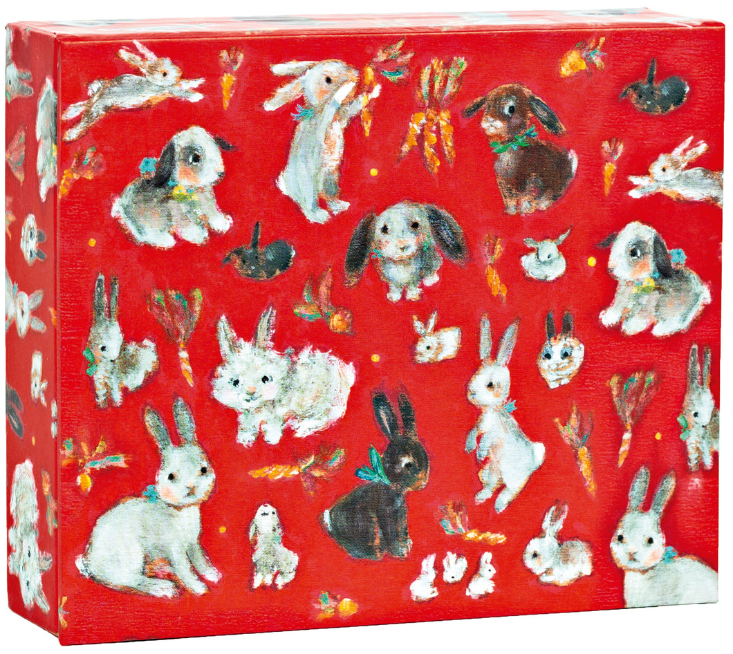 Honey Bunnies QuickNotes all occasion notecards in a collector box with magnetic closure