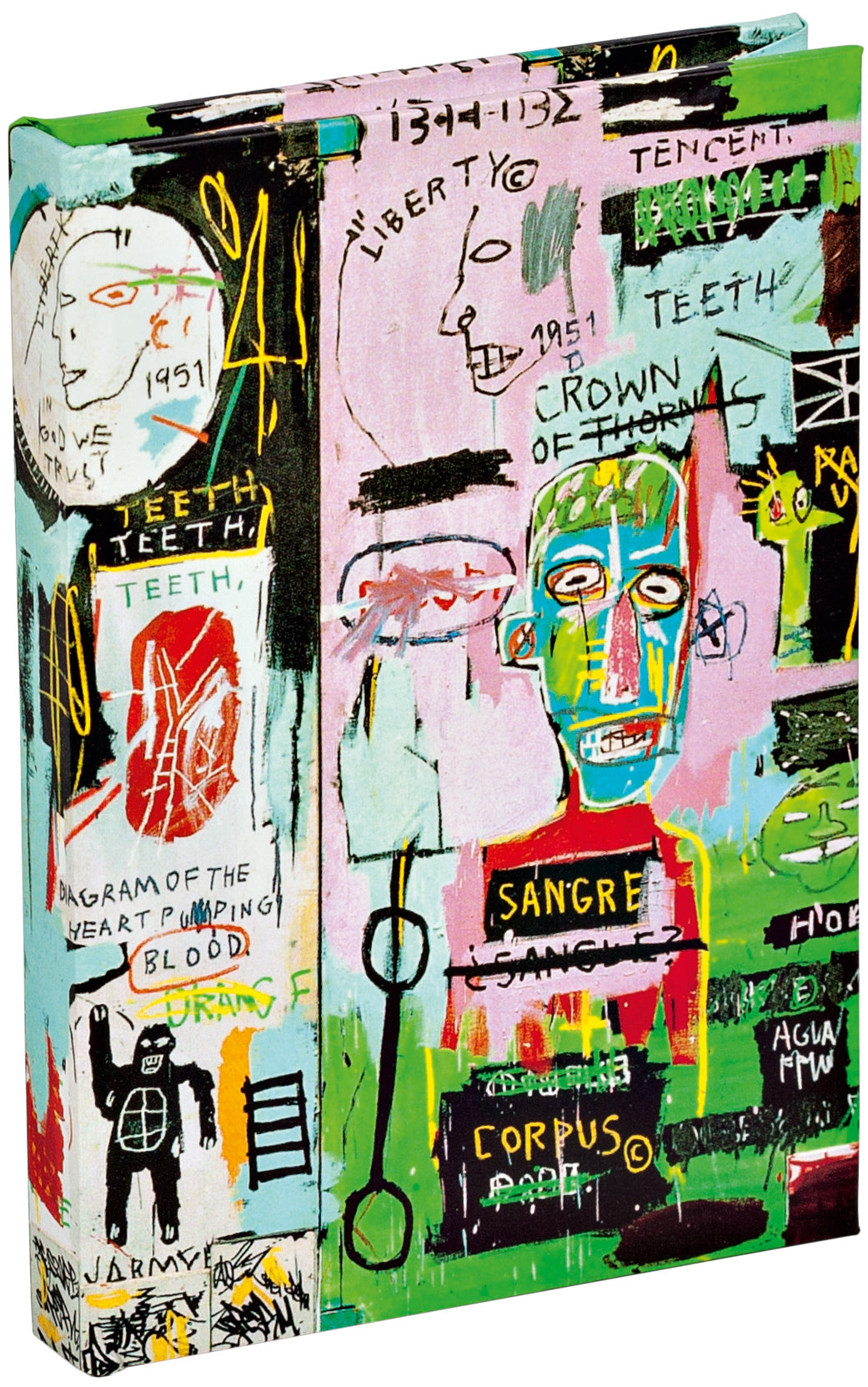 In Italian by Jean-Michel Basquiat Mini Sticky Book with interior pocket