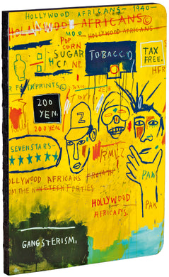 Hollywood Africans by Jean-Michel Basquiat A5 Notebook with black edges and dotted grid pages