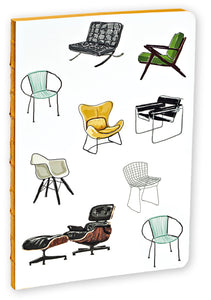 Mid-Century Modern Chairs A5 Notebook