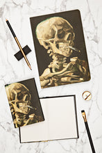 Head of a Skeleton with a Burning Cigarette, Skull A5 Notebook