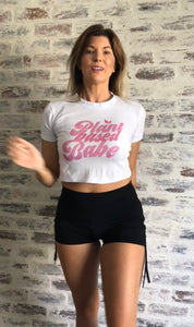 Plant Based Babe - Fitted Ladies Crop T-Shirt