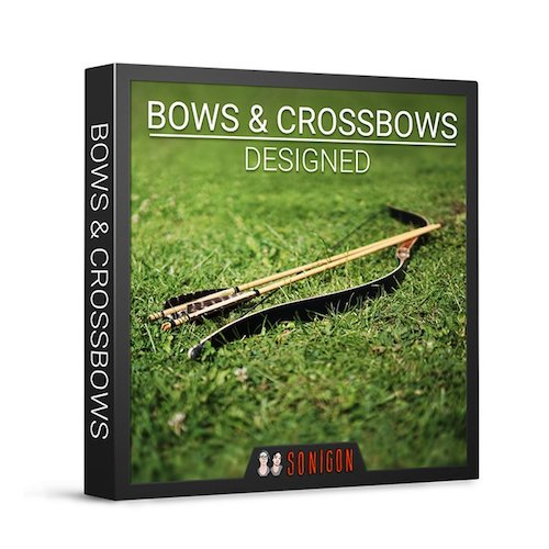 Sonigon Bows and Crossbow Designed Sound Effects Library Audio Post Production SFX Game Field Recording