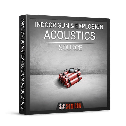 Sonigon Indoor Gun & Explosion Acoustics Source Sound Effects Library Audio Post Production SFX Game Field Recording