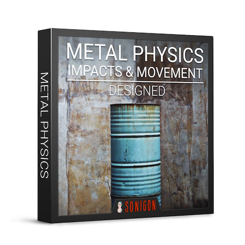 Sonigon Metal Physics Impacts & Movement Designed Sound Effects Library Audio Post Production SFX Game Field Recording