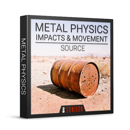 Sonigon Metal Physics Impacts & Movement Source Sound Effects Library Audio Post Production SFX Game Field Recording