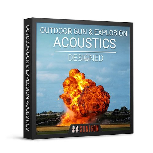 Sonigon Outdoor Gun & Explosion Acoustics Designed Sound Effects Library Audio Post Production SFX Game Field Recording