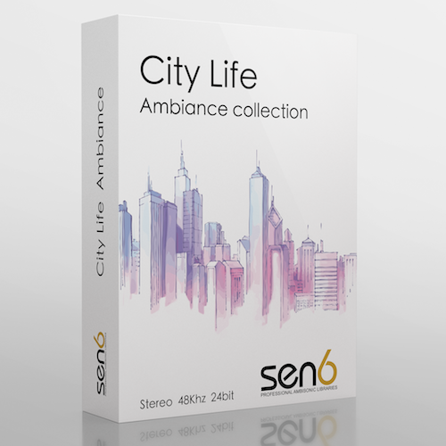 Sen6 City Life Ambience Sound Effects Library Audio Post Production SFX Game Field Recording