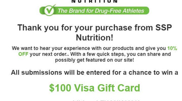 SSP Nutrition Launches Picture & Video Feature For Customers!