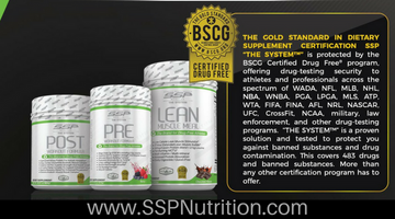 SSP Nutrition Receives BSCG Gold Standard Drug Free® Dietary Supplement Certification