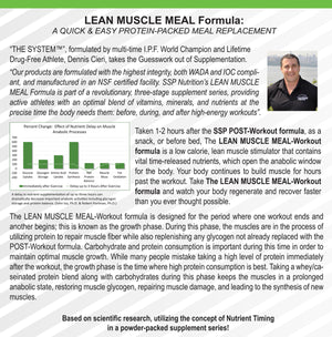 BULK ORDER LEAN MUSCLE MEAL:  12 Canisters, 240 servings