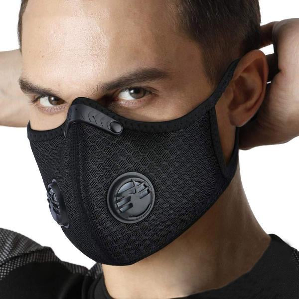 10 Masks + 30 Filters:  PM2.5 Workout Exercise Mask: Adjustable Air Flow (100% Reusable Protective Mask)