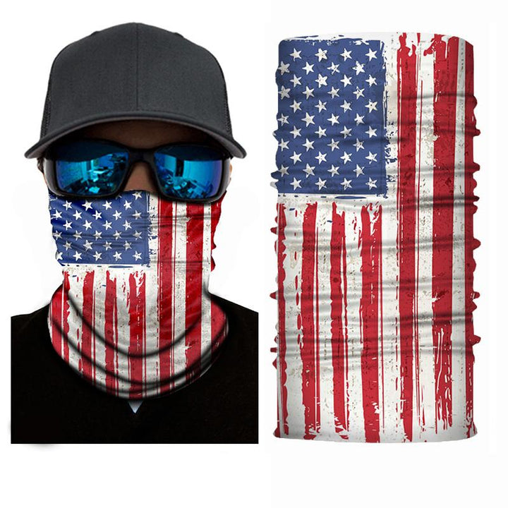 US Flag Print Face + Neck Gaiter