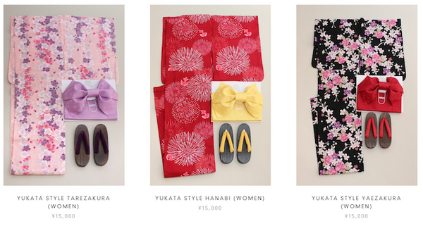 Special sale items: Yukata set for women