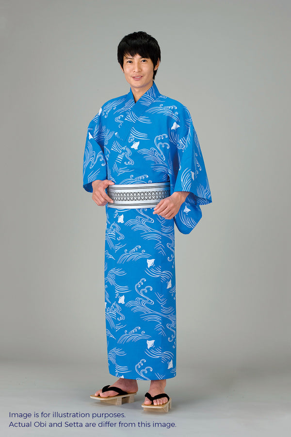 Yukata sytle Nami & Chidori image for men