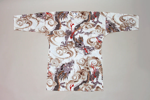 Koikuchi shirt White Dragon