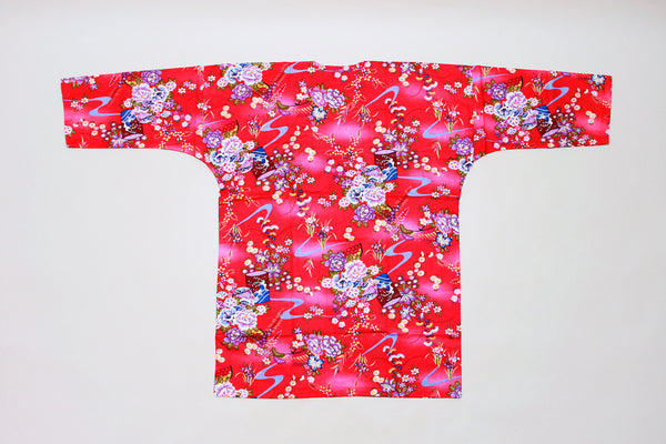 Koikuchi shirt Red Flower