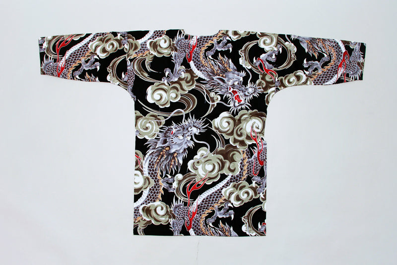 Koikuchi shirt Black Dragon