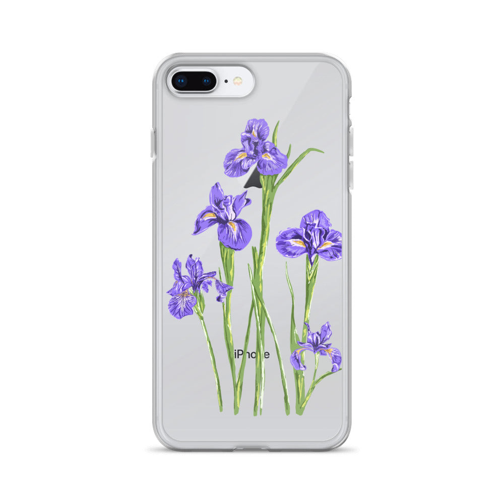 TENNESSEE Iris Flower iPhone Case - State Flower T-shirts, State Pride shirts, going away gifts for friend