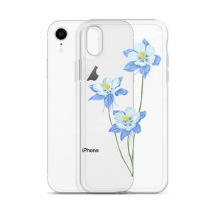 State Flower Shop COLORADO Blue Columbine Flower iPhone Case