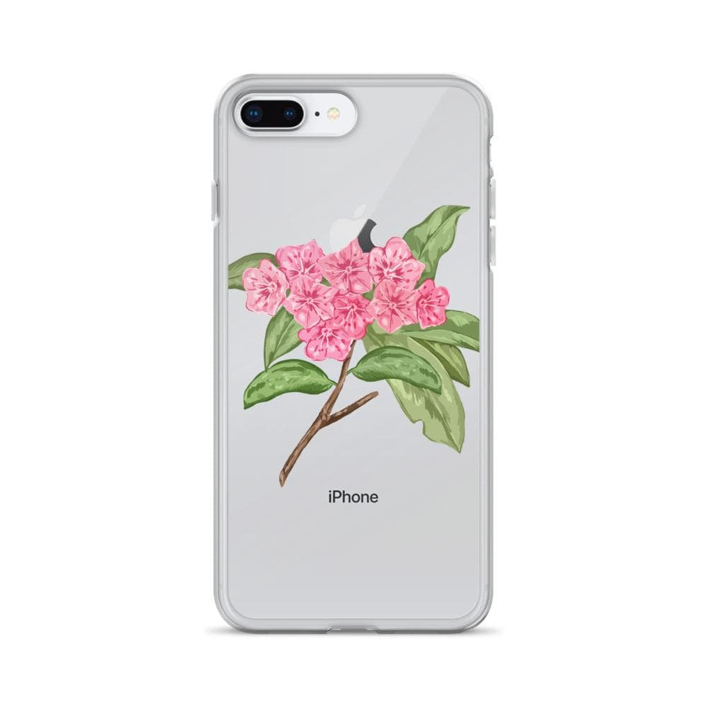 State Flower Shop PENNSYLVANIA Mountain Laurel Flower iPhone Case
