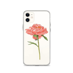 State Flower Shop Phone Case INDIANA iPhone Case - Coral