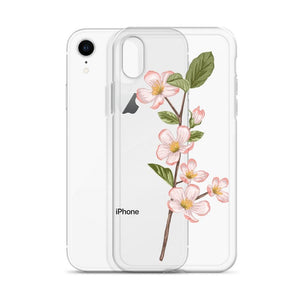 MICHIGAN Apple Blossom iPhone Case - State Flower T-shirts, State Pride shirts, going away gifts for friend