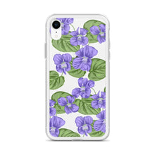 Load image into Gallery viewer, State Flower Shop Phone Case RHODE ISLAND Violet Flower iPhone Case