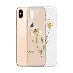 UTAH Sego Lily Flower iPhone Case - State Flower T-shirts, State Pride shirts, going away gifts for friend