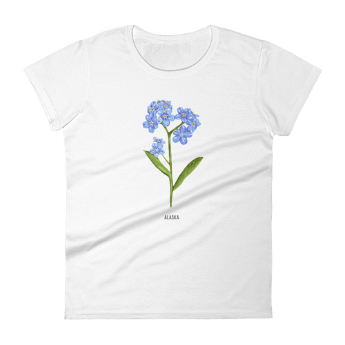 State Flower Shop T-Shirt ALASKA Forget-Me-Not Shirt