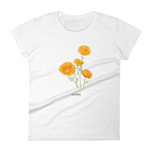 State Flower Shop T-Shirt CALIFORNIA Poppy Shirt