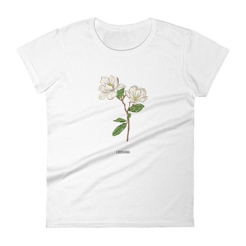 State Flower Shop T-Shirt LOUISIANA Magnolia Shirt